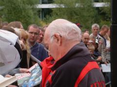 The back of Murray Walker's Head