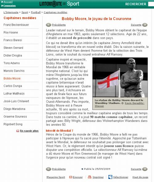 Bobby Moore Article